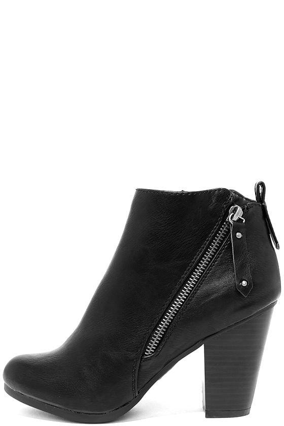 Cordelia Black High Heel Ankle Booties 1