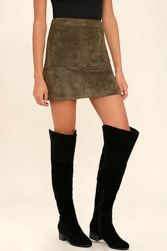 Cute Black Boots - Vegan Suede Boots - Over the Knee Boots -  43.00 50da8ca13