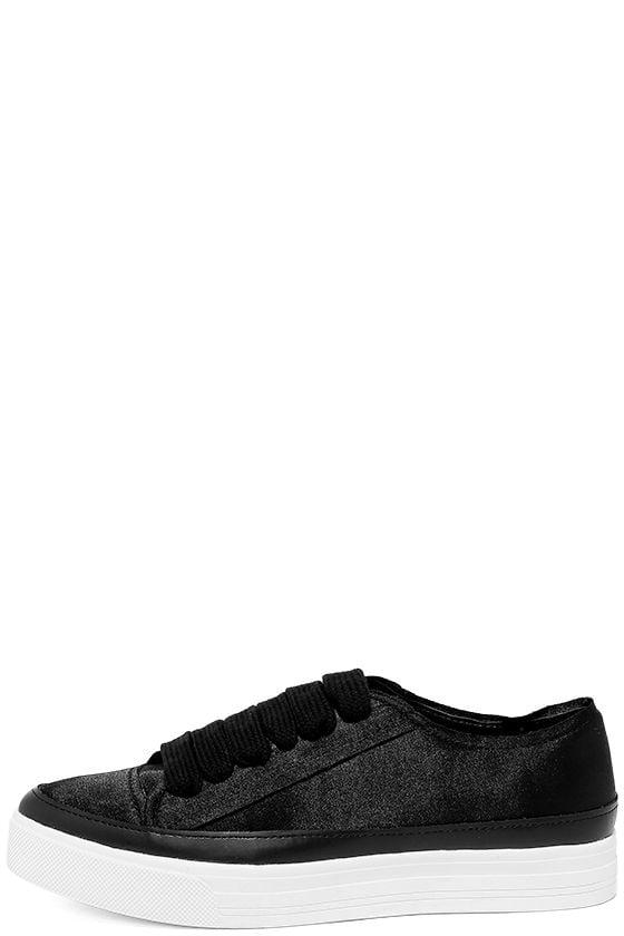 Siren Topio Black Satin Sneakers 2