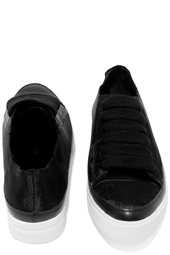 Siren Topio Black Satin Sneakers 1