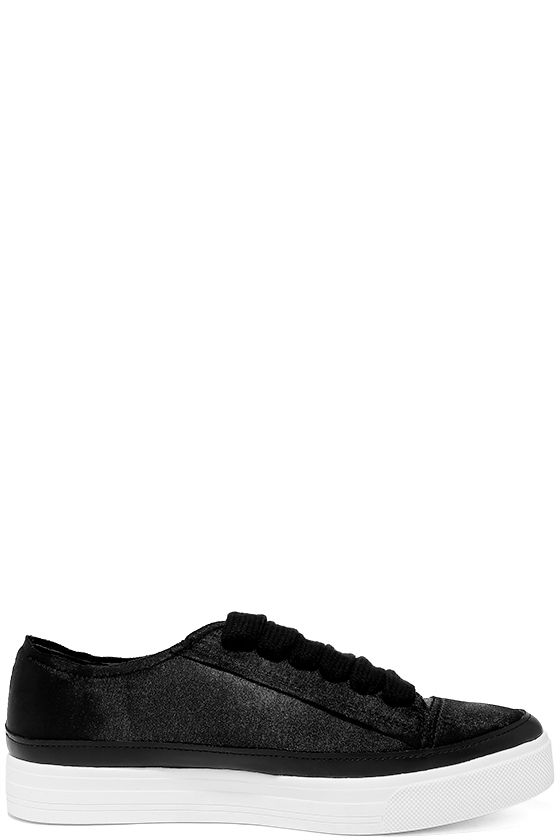 Siren Topio Black Satin Sneakers 4