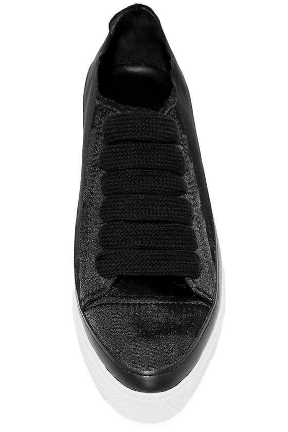 Siren Topio Black Satin Sneakers 5