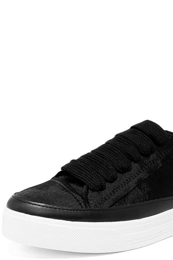 Siren Topio Black Satin Sneakers 6