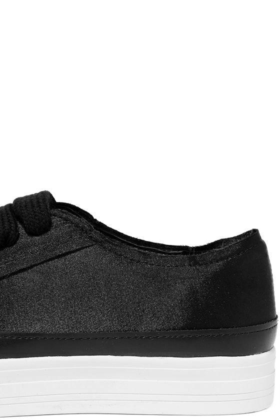 Siren Topio Black Satin Sneakers 7