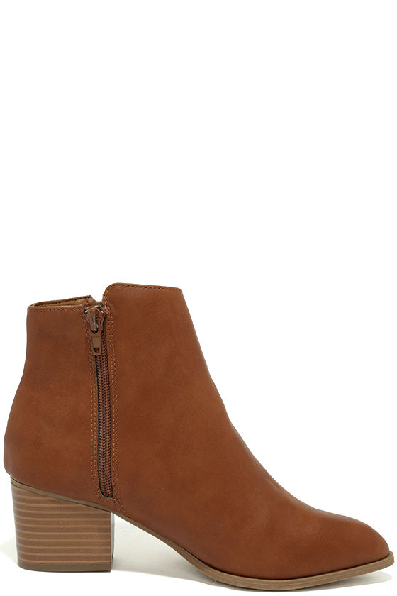 Illusion Tan Pointed Ankle Booties 4