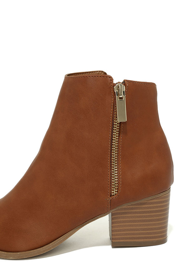 Illusion Tan Pointed Ankle Booties 7