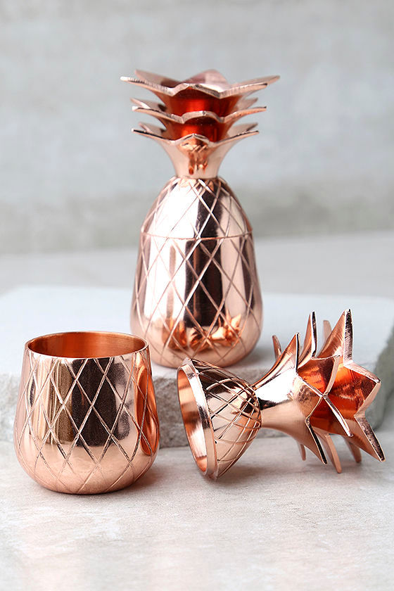 The Pineapple Co. Copper Pineapple Shot Glass Set 1