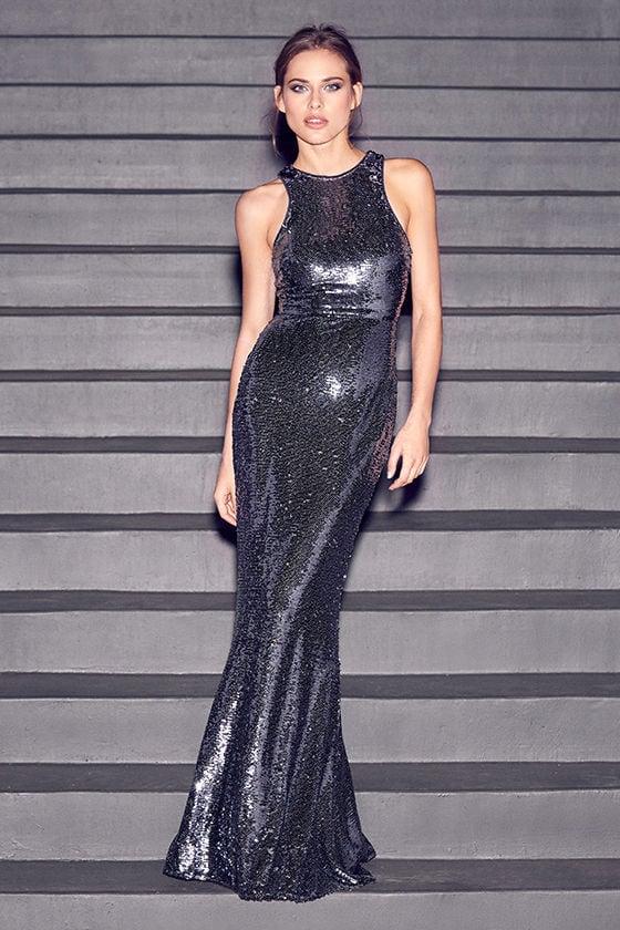 e502442f98f Lovely Pewter Dress - Maxi Dress - Sequin Dress -  96.00