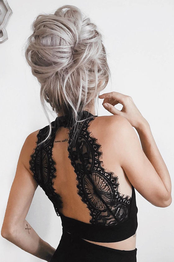 Chic My Interest Black Lace Two-Piece Dress 8