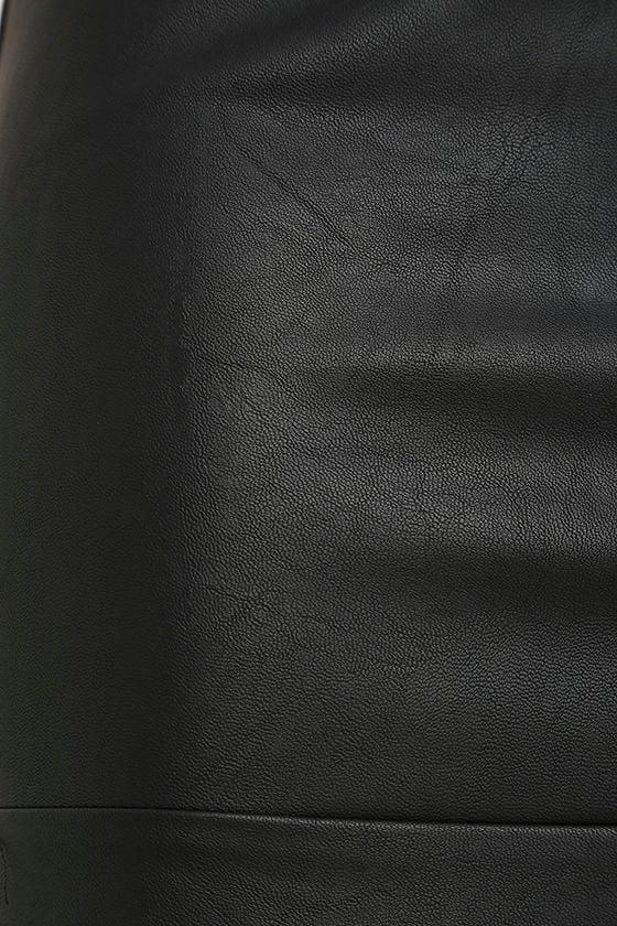 Popularity Vegan Leather Midi Skirt 6
