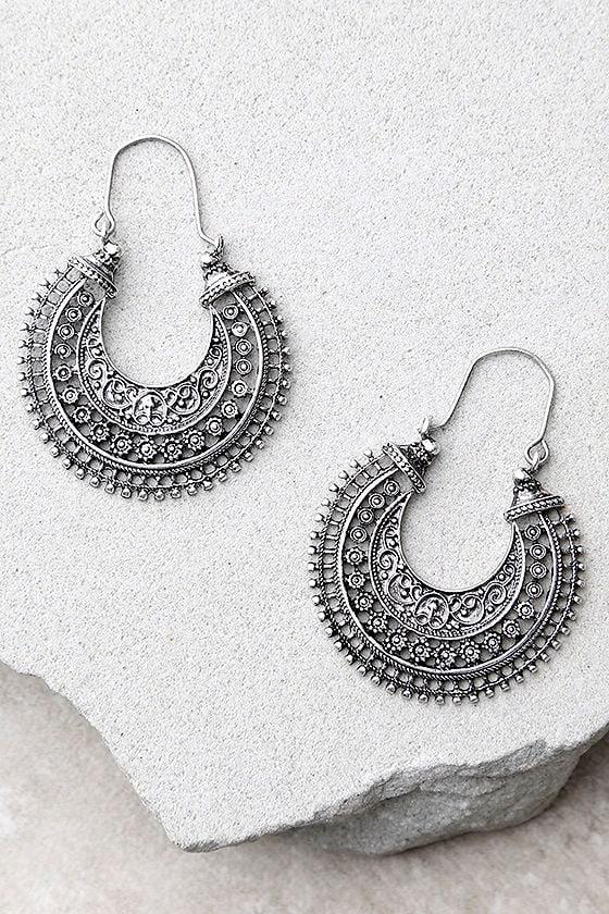 Worldly Wisdom Silver Earrings 1