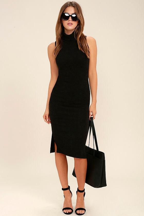 24645dad1174af Chic Black Dress - Bodycon Dress - Midi Dress - Sweater Dress -  49.00
