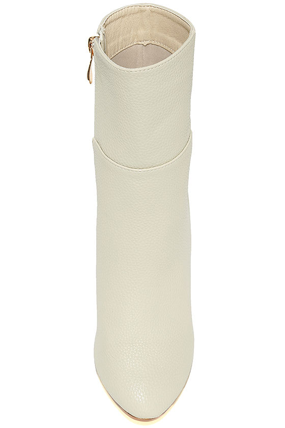 Naomi Off-White Lucite Mid-Calf Boots 5