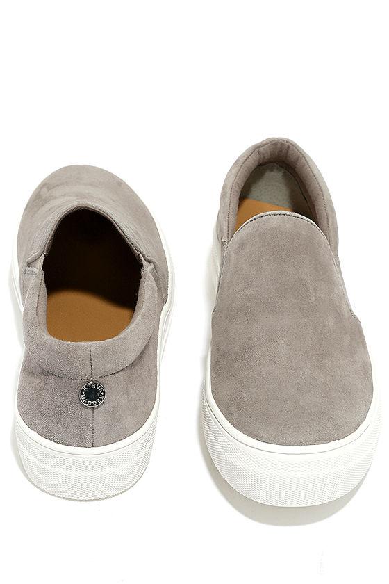Steve Madden Gills Grey Suede Leather Flatform Sneakers 3