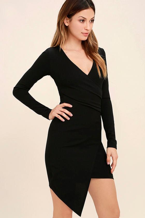 Love Me Completely Black Long Sleeve Bodycon Dress 3