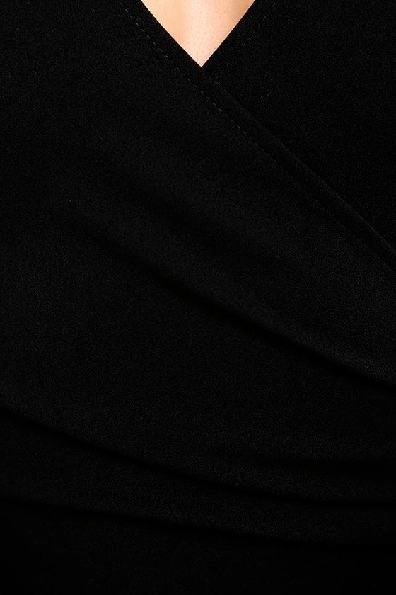 Love Me Completely Black Long Sleeve Bodycon Dress 6