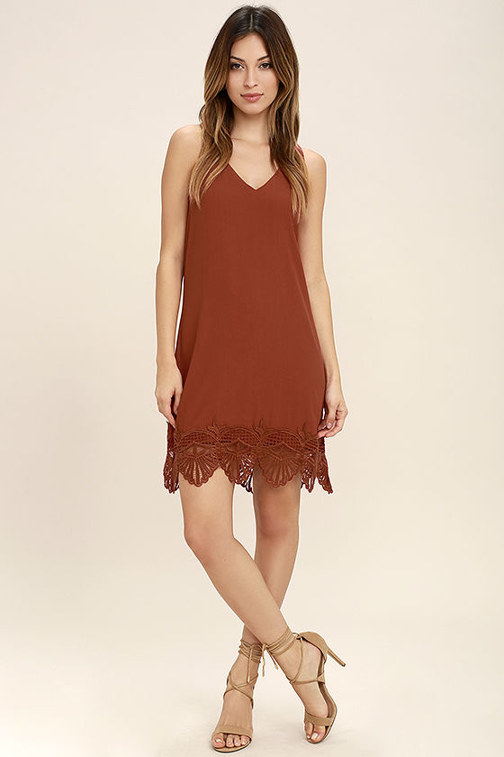 e4d3b0004ce Gentle Fawn Babylon - Rust Red Dress - Lace Dress - Sheath Dress ...