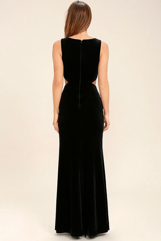 Reach Out Black Velvet Maxi Dress 4