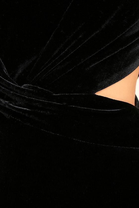 Reach Out Black Velvet Maxi Dress 6