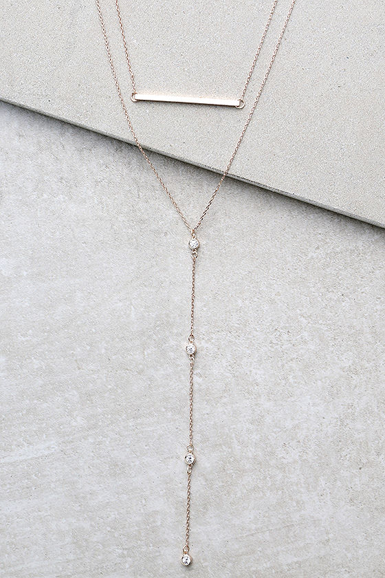Kindness Rose Gold Layered Necklace 1