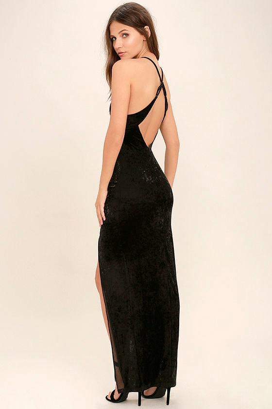 ... Farrah - Velvet Dress - Maxi Dress - Backless Maxi Dress - $120.00