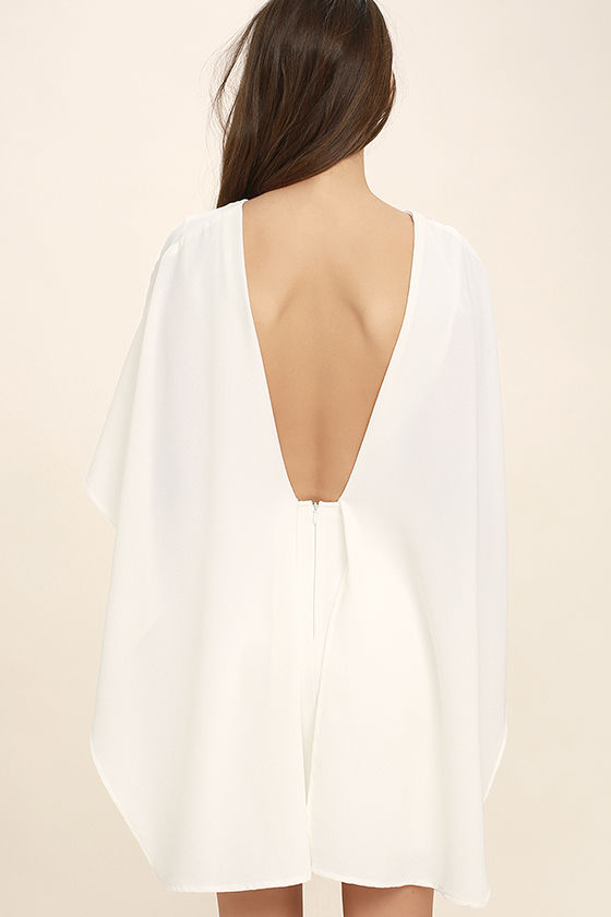 Best is Yet to Come White Backless Dress 4