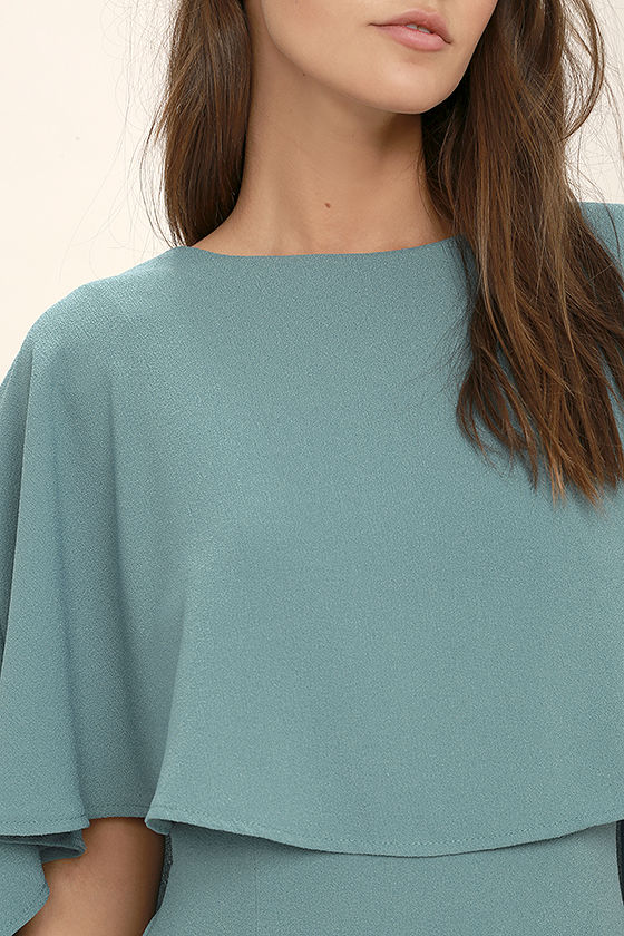 Best is Yet to Come Turquoise Blue Backless Dress 5