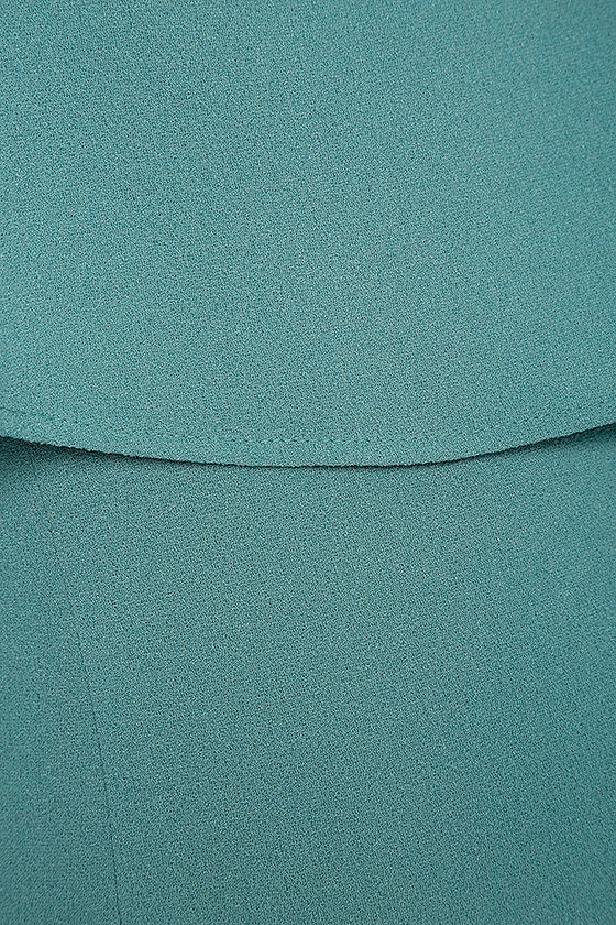 Best is Yet to Come Turquoise Blue Backless Dress 6