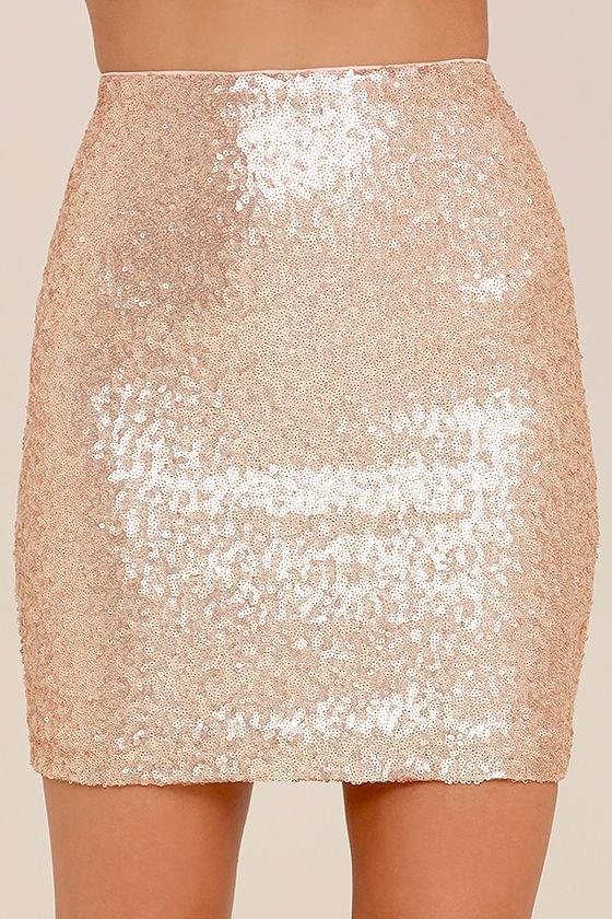 Lovely Gold Skirt - Sequin Skirt - Mini Skirt - $49.00