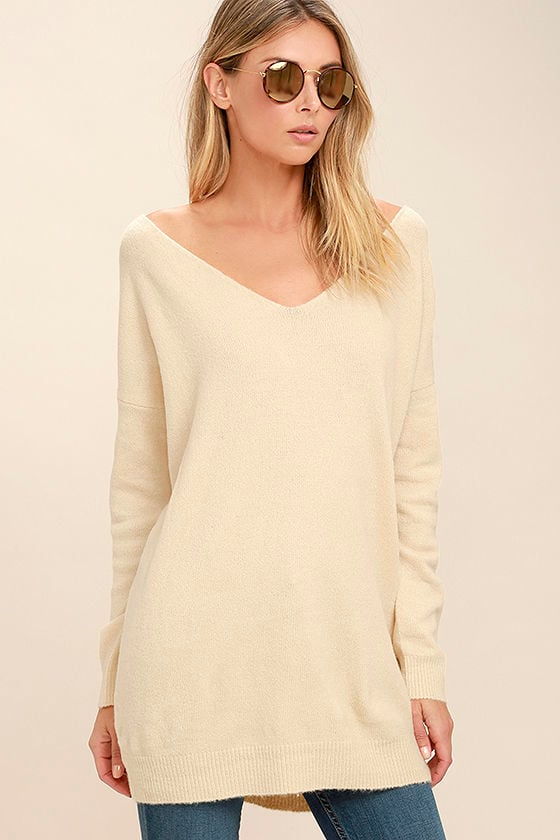 All Time Best Beige Backless Sweater 3