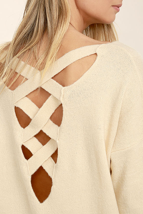 All Time Best Beige Backless Sweater 5