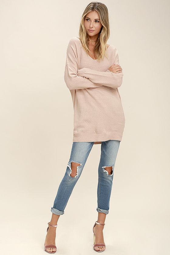 All Time Best Blush Pink Backless Sweater 2