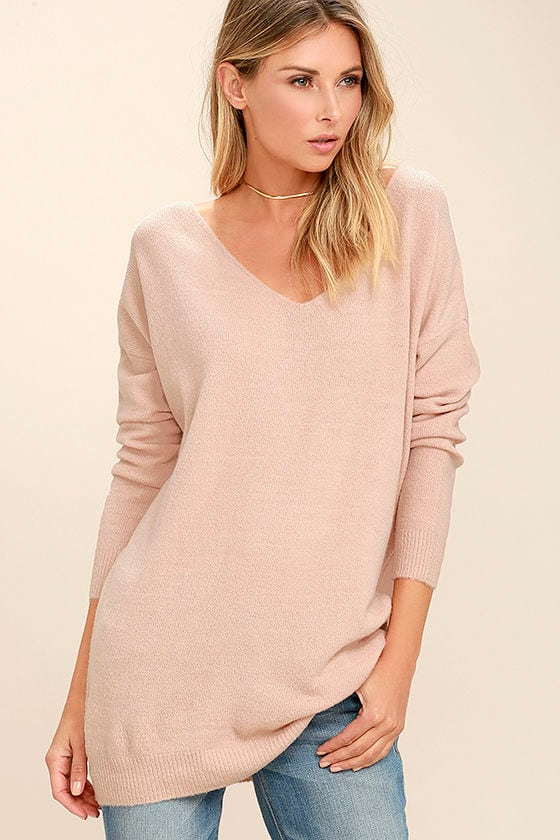 All Time Best Blush Pink Backless Sweater 3