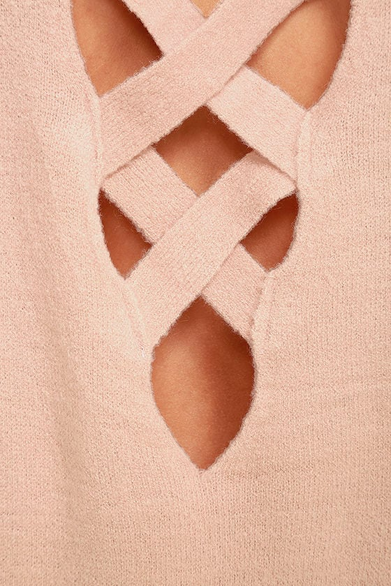 All Time Best Blush Pink Backless Sweater 6