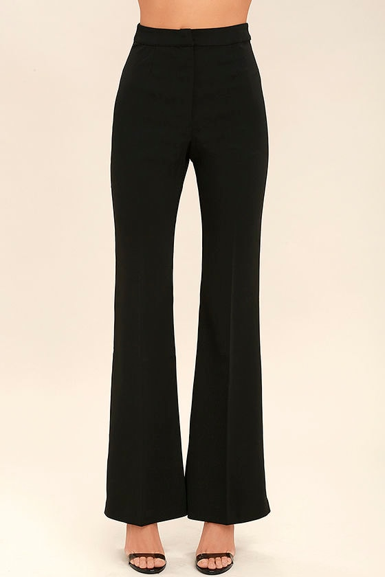 Chic Black Pants - Wide-Leg Pants - Trouser Pants - $88.00