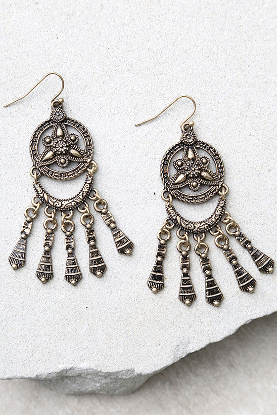 Only a Dream Gold Earrings 2