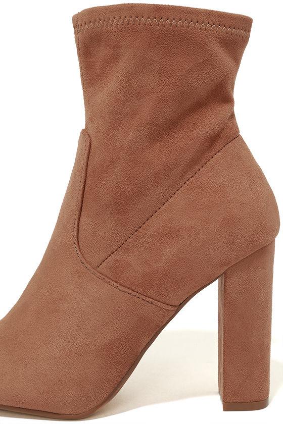 Steve Madden Edit Camel Suede High Heel Mid-Calf Boots 7