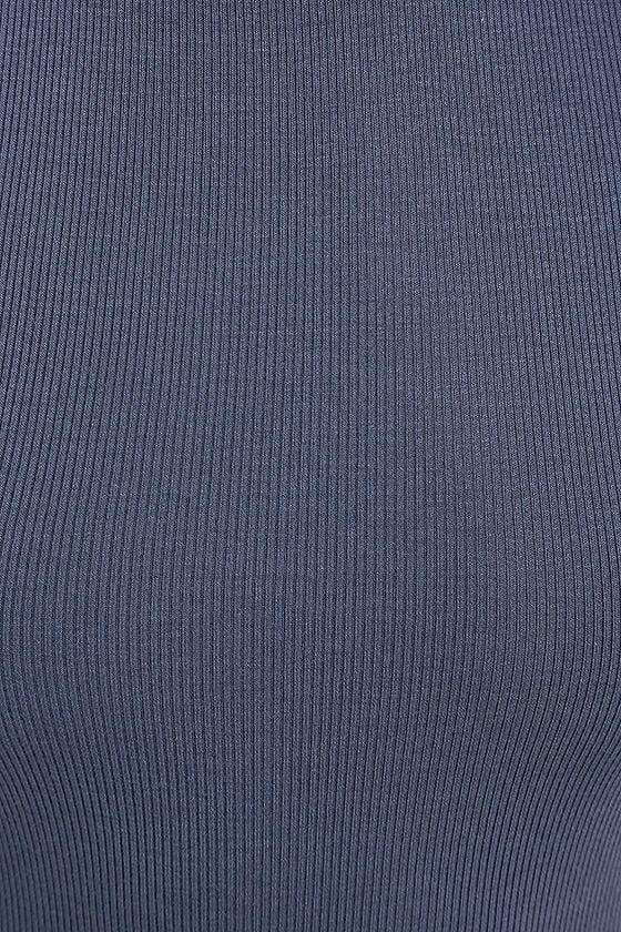 Like Minded Slate Blue Bodycon Midi Dress 6
