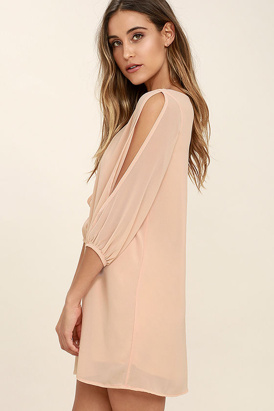 Shifting Dears Blush Pink Long Sleeve Dress 3