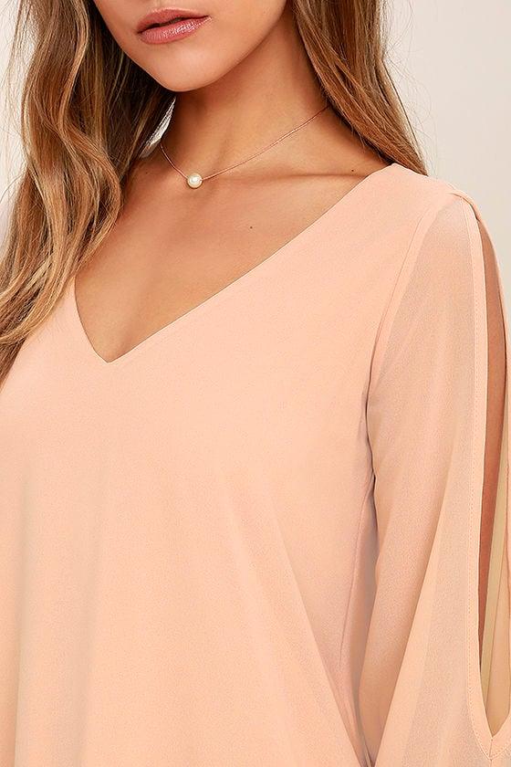 Shifting Dears Blush Pink Long Sleeve Dress 5