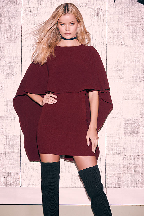 Best is Yet to Come Burgundy Backless Dress 2