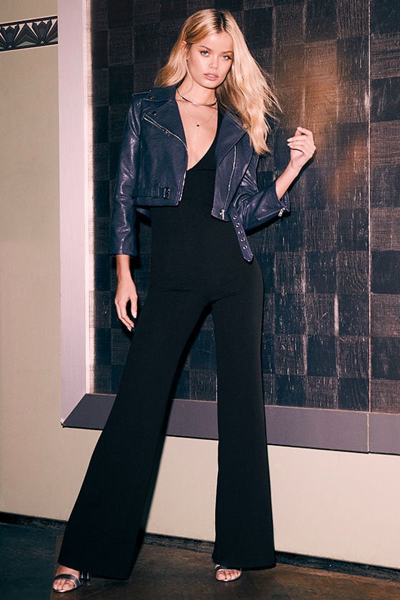 Thinking Out Loud Black Backless Jumpsuit 3