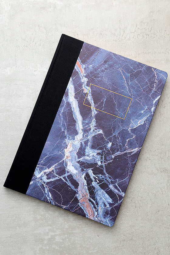 Ohh Deer Blue Marble A4 Quarterbound Notebook 1