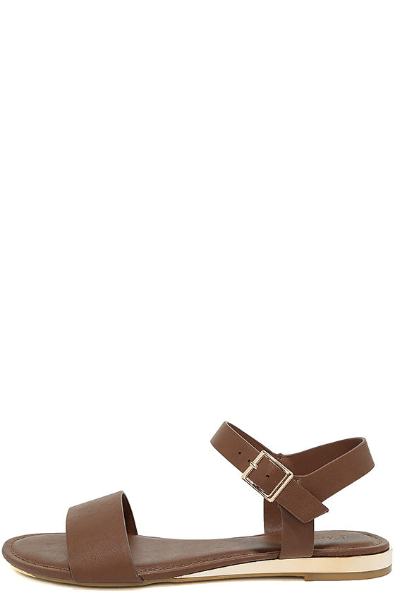 Tierney Cognac Wedge Sandals 2