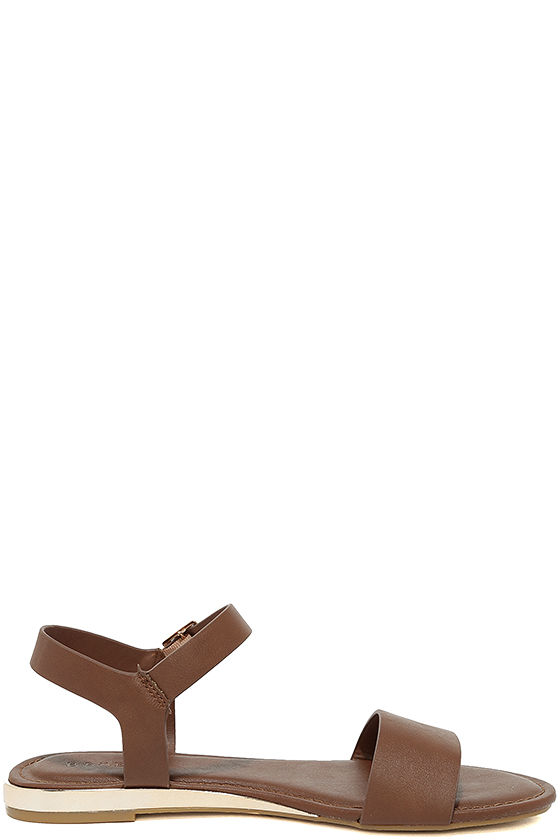 Tierney Cognac Wedge Sandals 4