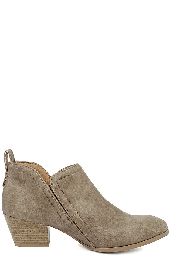 Tanesha Taupe Ankle Booties 4