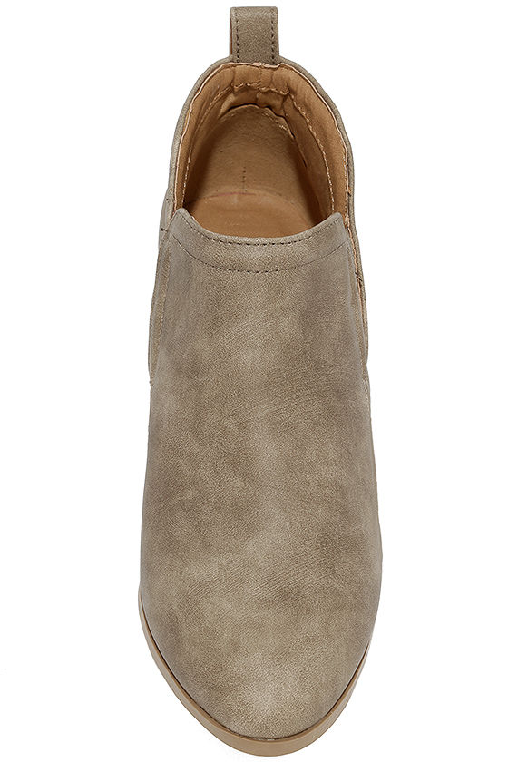 Tanesha Taupe Ankle Booties 5