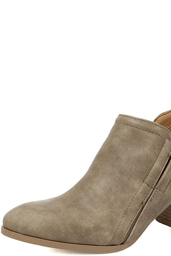 Tanesha Taupe Ankle Booties 6