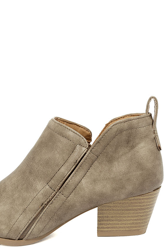 Tanesha Taupe Ankle Booties 7