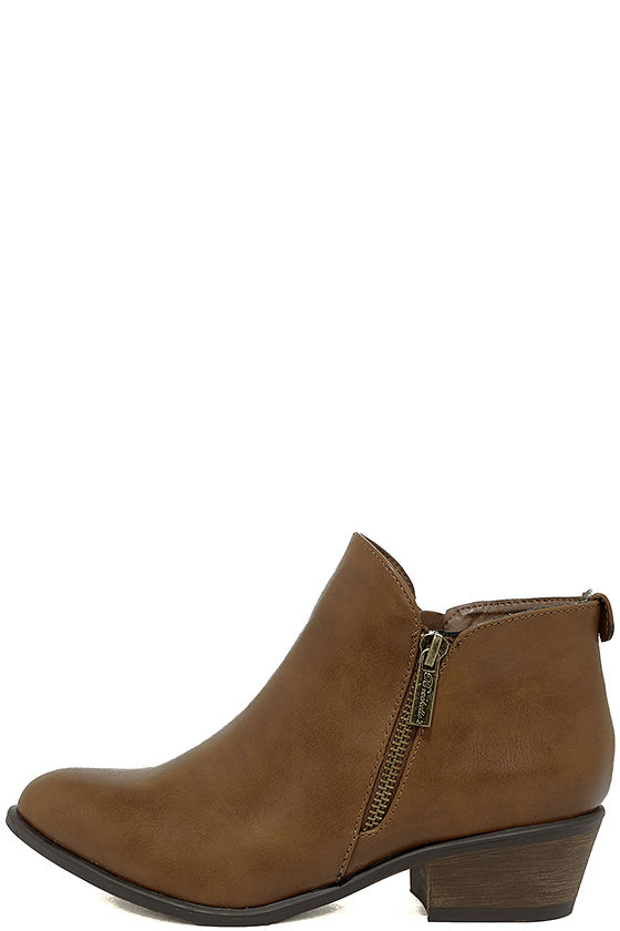 Darcy Tan Ankle Booties 1